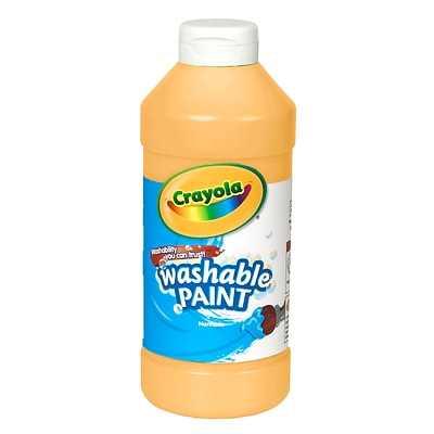 Crayola Washable Paints, Peach,16 oz., (54-2016-033)