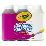 Crayola Artista II Washable Tempera Paint, Neutral Colors, 8 oz., Pack of 3 Bottles (BIN543183)