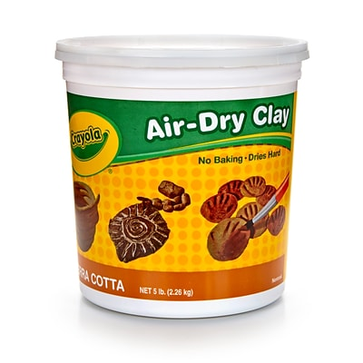 Crayola Air Dry Clay 5lb Tub Terra, BIN572004, 6 x 6