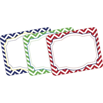 Barker Creek All Grades Self-Adhesive Name Tag, Nautical Chevron, 45/Pack