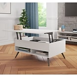 Bestar Small Space Krom 37 Lift-Top Storage Coffee Table in White (17160-1117)