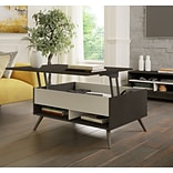Bestar Small Space Krom 37 Lift-Top Storage Coffee Table in Deep Grey and White (17160-1132)