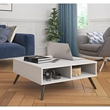Bestar Small Space Krom 29.5 Storage Coffee Table in White (17161-1117)