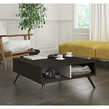 Bestar Small Space Krom 29.5 Storage Coffee Table in Deep Grey and White (17161-1132)