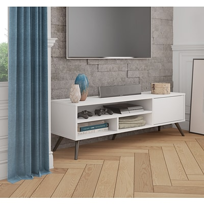 Bestar Small Space Krom 53.5 TV Stand in White (17200-1117)