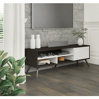 Bestar Small Space Krom 53.5 TV Stand in Deep Grey and White (17200-1132)