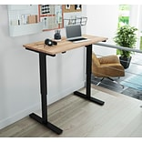Bestar 24 x 48 Electric Height Adjustable Table with Solid Wood Work Surface (65877-20)