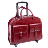 McKlein L Series Laptop Briefcase, Red Leather (96186A)