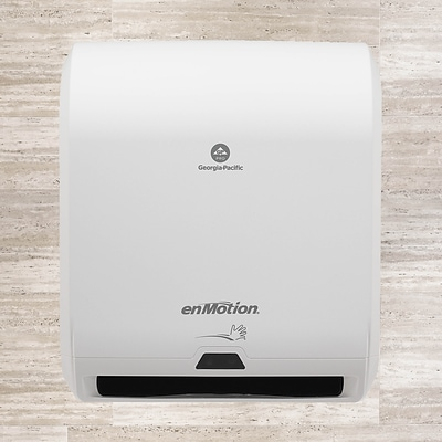 "enMotion® 10"" Automated Paper Towel Dispenser by GP PRO, White, 14.70""W x 9.50""D x 17.30""H (59407A)"