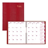 2019 Brownline® CoilPro™ 14-Month Monthly Planner, Red Hard Cover, 11 x 8-1/2 (CB1262C.RED-19)