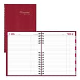 2019 Brownline® CoilPro™ 12-Month Daily Planner, Red Lizard-Like Hard Cover, 10 x 7-7/8 (C550C.RED