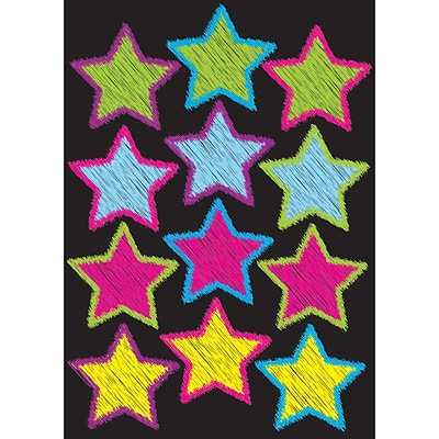 Ashley Productions Die-Cut Magnets, Scribble Stars, 3, 12 per sheet (ASH10086)