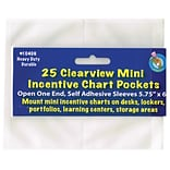 Ashley® Clear Self-Adhesive Mini Incentive Pocket, 5-3/4(H) x 6(W) (ASH10406)
