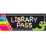 Ashley Productions® Laminated Library Pass, 9 x 3.5, Books, Bundle of 6 (ASH10635)