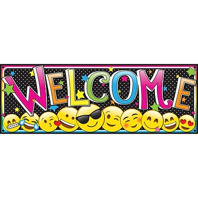 Ashley Productions 6 x 17 Magnetic Emoji Welcome Banner (ASH11310)