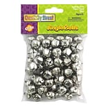 Chenille Craft® Jingle Bells, Silver, 3 EA/BD