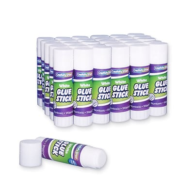Chenille Kraft® 0.28 oz. Economy Glue Sticks; Clear, 30/Pack (CK-338330)