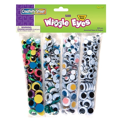 Chenille Craft® Wiggle Eyes Assortment, 500 Pieces (CK-3435)