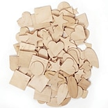 Chenille Kraft® Wooden Craft Materials, Shapes, 1000 Pieces