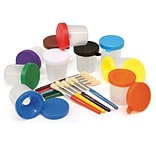 Chenille Kraft Company No Spill Paint Cup & Brush Set, 10/Pack