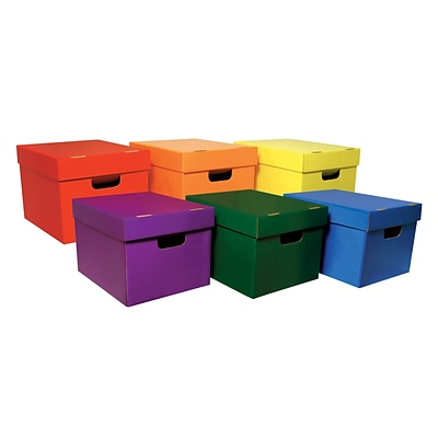Classroom Keepers Storage Tote Assortment, Stackable, External Dimensions: 10.1H x 12.3W x 15.3