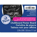 Pacon® Chalkboard Poster Board, 22 x 28, Black, 25 Sheets (PAC53501)