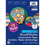 Pacon® Sunworks® Construction Paper; Assorted Colors, 9 X 12, 50 Sheets