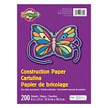 Pacon® Little Fingers® Construction Paper, 9 x 12, Assorted Colors, 6 Packs of 200 Sheets Per Pack