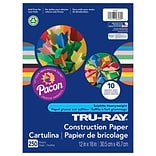 Pacon Tru Ray 12 x 18 Construction Paper, Assorted, 250/Pack (PAC6589)