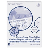 Pacon Picture Story Chart Tablet, 24 x 32, Wide Ruled Writing Paper, 25 Sheets (PACMMK07430)