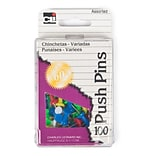 Charles Leonard 7/16 Push Pin, Assorted (CHL200AR)