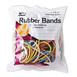 Charles Leonard Rubber Bands, Assorted Colors, 1-3/8 oz., 12 packs (CHL56385)