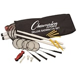 Champion Sports Plastic/Nylon/Steel Deluxe Badminton Set, Multicolor, Each (CHSDBSET)