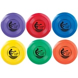 Champion Sports Plastic Frisbee Set. Assorted Colors, 6 Count of 6 Frisbees Per Order (CHSFD125)