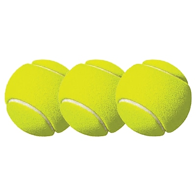Champion Sports Rubber Tennis Ball Pack, Yellow, 3/Pack (CHSTB3)