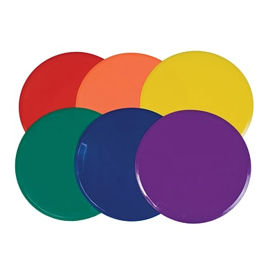 Champion Sports Vinyl Extra Large Poly Spot Marker Set, Assorted Colors, 6/Set (CHSXLMSPSET)