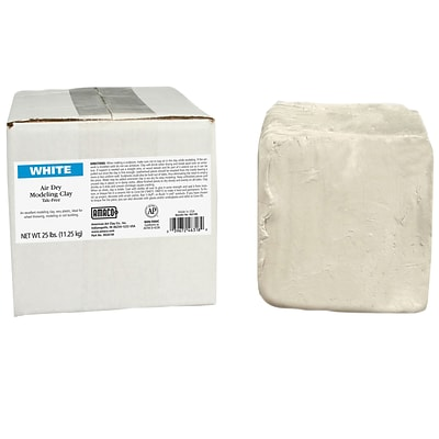 AMACO® Air Dry Modeling Clay, White, 25 lbs. (AMA46318R)