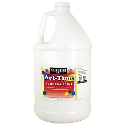 Sargent Art Art-Time Tempera Paint, White, Gallon (SAR176696)