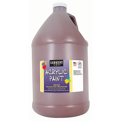 Sargent Art Acrylic Paint, Brown, 64 oz. Bottle (Half Gallon) (SAR222788)