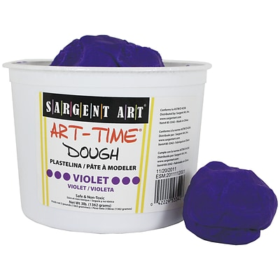 Sargent Art Art-Time Dough, Violet, 3 lb. (SAR853342)