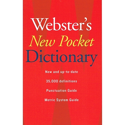 Houghton Mifflin® Websters New Pocket Dictionary, Grades 7th - 12th (AH9780618947263)