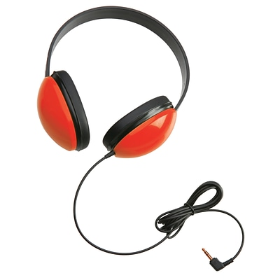 Califone Listening First Stereo Headphone Headphones, Red (2800-RD)