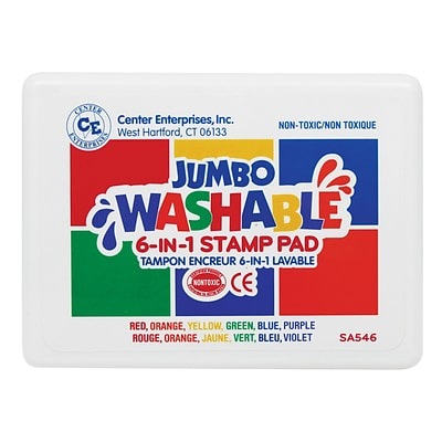 Center Enterprises® 6-in-1 Washable Stamp Pad, Assorted