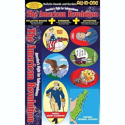 Gallopade All-in-One Bulletin Board Set, American Revolution (GAL0635063778)