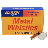 Martin Sports® Equipment Whistle, Metal (MASM1)
