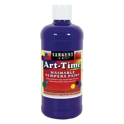 Sargent Art Art-Time Non-Toxic Washable Tempera Paint, 16 oz., Violet (SAR223442)