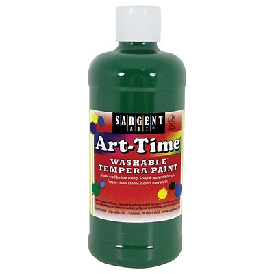 Sargent Art Art-Time Non-Toxic Washable Tempera Paint, 16 oz., Green (SAR223466)