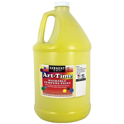 Sargent Art Art-Time Washable Tempera Paint, Yellow, Gallon (SAR173602)