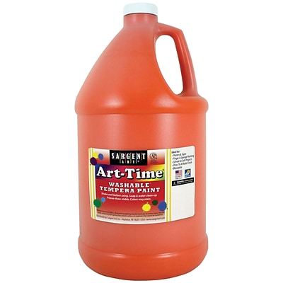 Sargent Art Art-Time Washable Tempera Paint, Orange, Gallon (SAR173614)