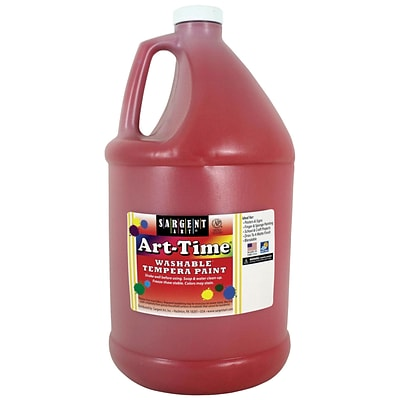 Sargent Art® Art-Time® Gallon Washable Tempera Paints, Red